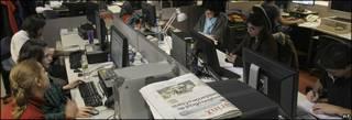 Redacción del periódico Clarín. Foto: 11/09/09