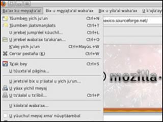 Mozilla Firefox en maya. Cortesía Mozilla México.