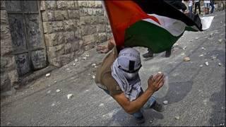 Protestas junto a la mezquita de al-Aqsa