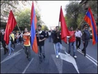 متظاهرون في أرمينيا