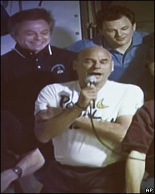 Guy Laliberté en la Estación Espacial Internacional