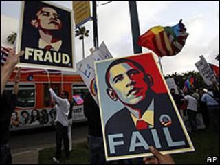 Protesta gay contra las políticas de Obama
