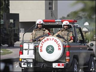 Policía militar en Rawalpindi