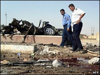 Destrozos en Ramadi