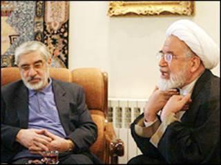 مهدی کروبی و میرحسین موسوی - 18 مهر - عکس از پارلمان نیوز