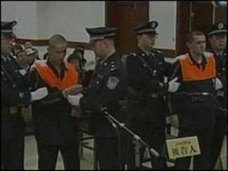 Tù nhân người Uighur trong phiên tòa