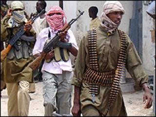 أفراد ميليشيا صوماليون