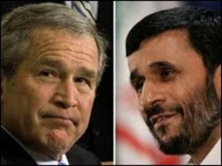 احمدی نژاد و بوش