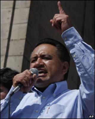 Martín Esparza, secretario general del Sindicato Mexicano de Electricistas
