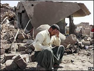 Sobreviviente de ataque en Iraq.