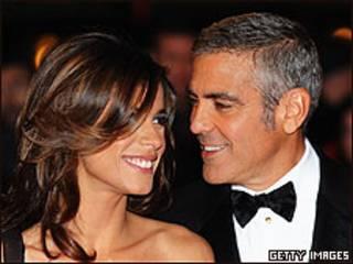George Clooney e a namorada, Elisabetta Canallis