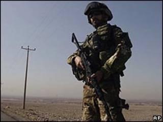 جندي إيطالي في أفغانستان