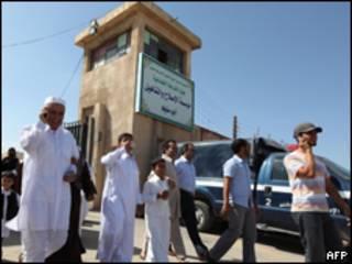 مدخل سجن أبو سالم في العاصمة طرابلس