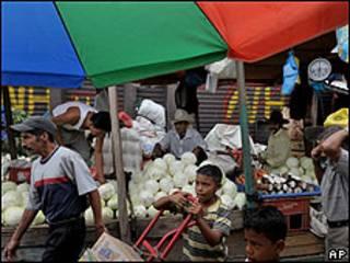 Mercado en Tegucigalpa