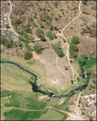 Vista aérea das obras. Foto BBC Brasil