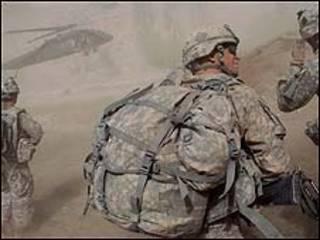 Soldado americano em ação