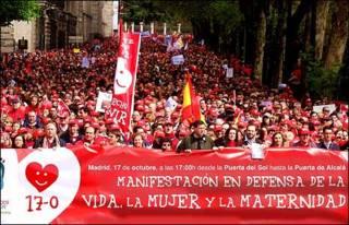 Protesto em Madri, em 2005