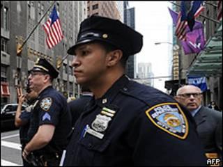 Policías en Nueva York