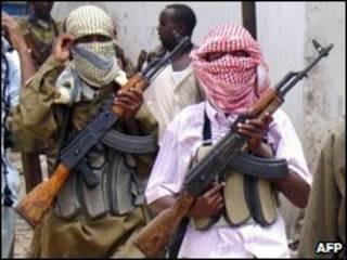 Milicianos islâmicos somalis