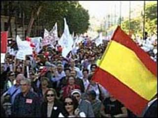 مظاهرة ضد الإجهاض في إسبانيا