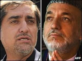 حامد کرزی و عبدالله عبدالله