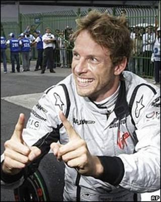 Jenson Button após o Grande Prêmio do Brasil