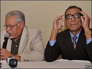 Victor Meza (izq.) y Rodil Rivera