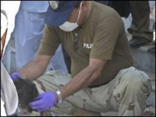 Cena do atentado em Islamabad