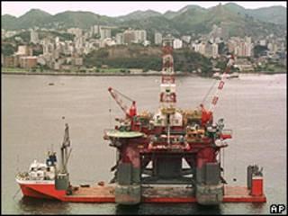 Plataforma petrolera en Brasil