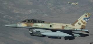 F-16 de la Fuerza Aérea israelí en ejercicios militares en EE.UU.