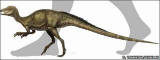 Imagen de cómo pudo ser el Fruitadens haagarorum.