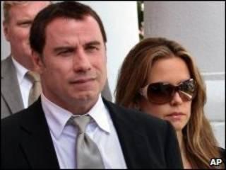 John Travolta y su esposa Kelly Preston