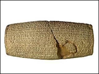 منشور کوروش - عکس از وبسایت موزه بریتانیا