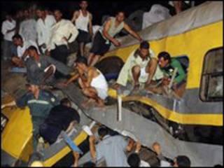 تصادف دو قطار مصر