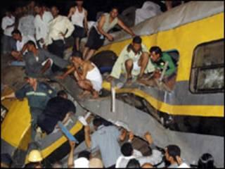 Acidente de trem no Egito