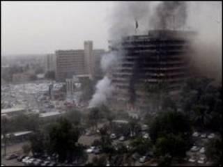 धमाके की तस्वीर