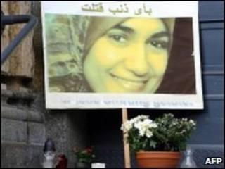 Cartaz homenageia Marwa Sherbini (arquivo)
