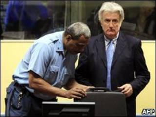 Radovan Kardzic no tribunal