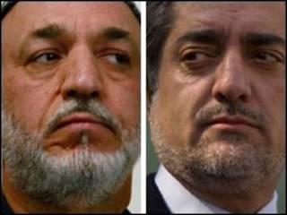 عبدالله عبد الله وحامد كرزاي