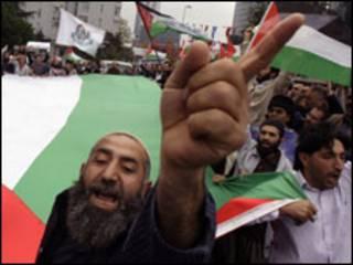 مظاهرات تركية ضد اسرائيل