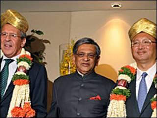 भारत, चीन और रुस के के विदेश मंत्री