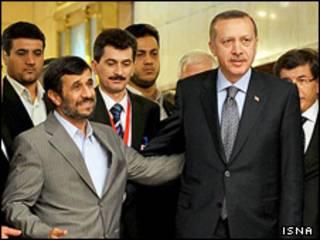 رجب طیب اردوغان و محمود احمدی نژاد در تهران