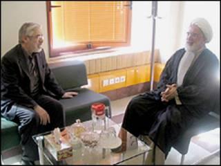 میرحسین موسوی و مهدی کروبی - عکس از وب سایت تغییر