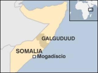 Mapa da região de Galguduud