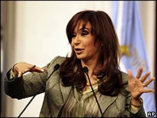 Cristina Kirchner na Casa Rosada