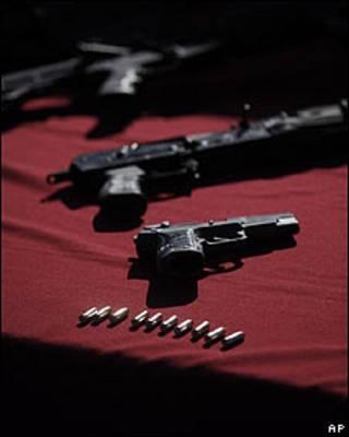 Armas incautadas en México