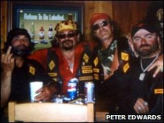 Membros da gangue Bandidos