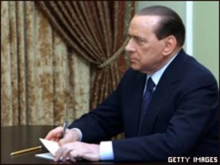 رئيس الوزراء الإيطالي، سيلفيو برلوسكوني