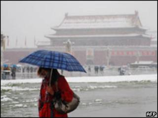 برف در پکن