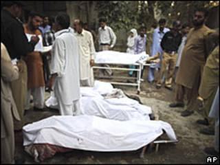 Víctimas del ataque en Rawalpindi